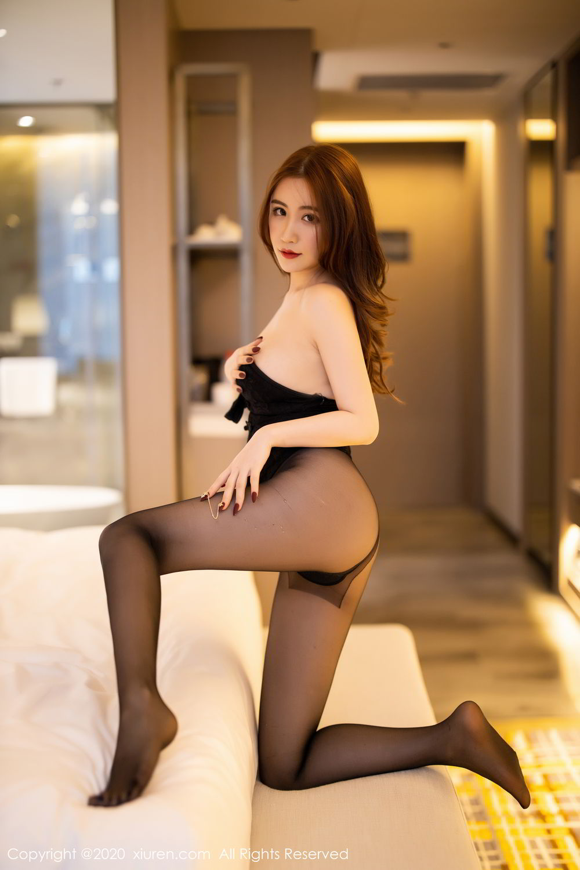 [XiuRen] Vol.2204 Fei Yue Ying 53P, Black Silk, Foot, Xie Zhi Xin, Xiuren