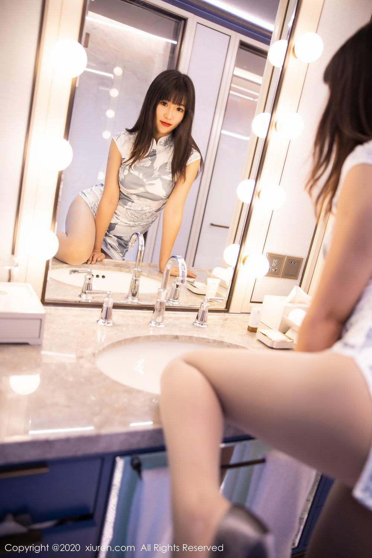 [XiuRen] Vol.2211 Tong Qian Yi 13P, Cheongsam, Underwear, Xiuren