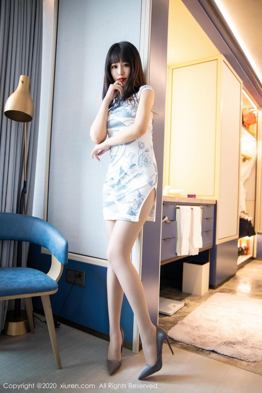 [XiuRen] Vol.2211 Tong Qian Yi 19P, Cheongsam, Underwear, Xiuren