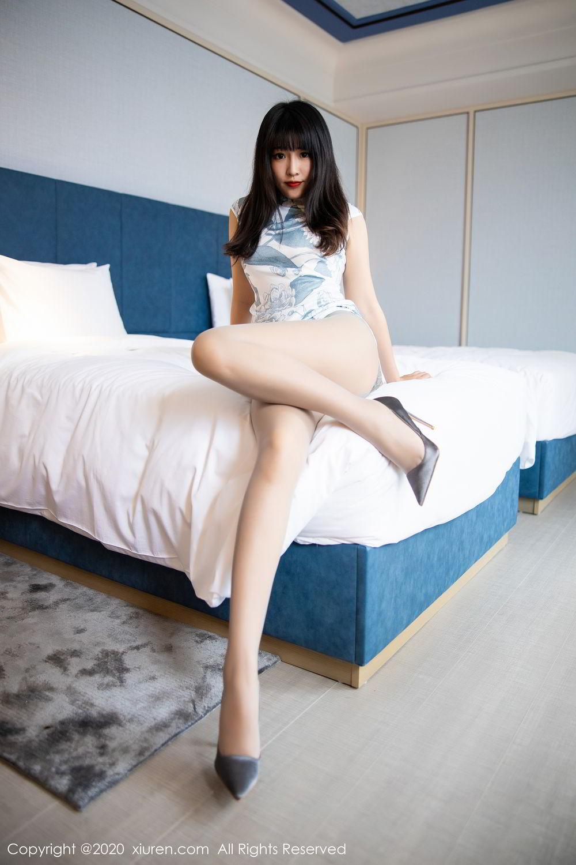 [XiuRen] Vol.2211 Tong Qian Yi 35P, Cheongsam, Underwear, Xiuren