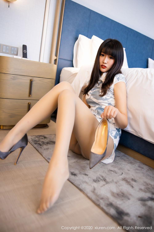 [XiuRen] Vol.2211 Tong Qian Yi 3P, Cheongsam, Underwear, Xiuren