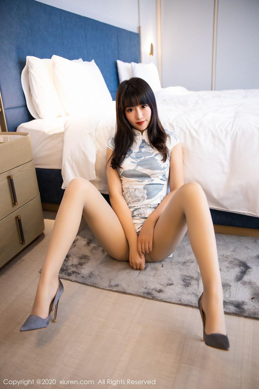 [XiuRen] Vol.2211 Tong Qian Yi 43P, Cheongsam, Underwear, Xiuren