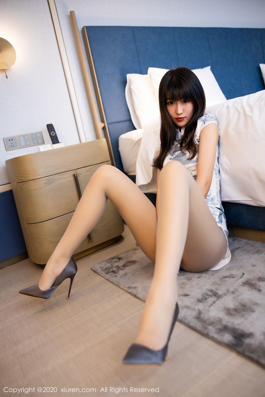 [XiuRen] Vol.2211 Tong Qian Yi 44P, Cheongsam, Underwear, Xiuren