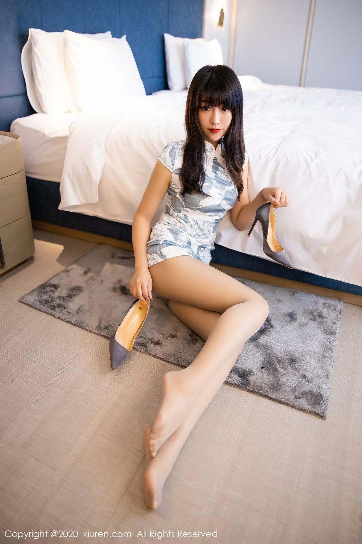 [XiuRen] Vol.2211 Tong Qian Yi 48P, Cheongsam, Underwear, Xiuren