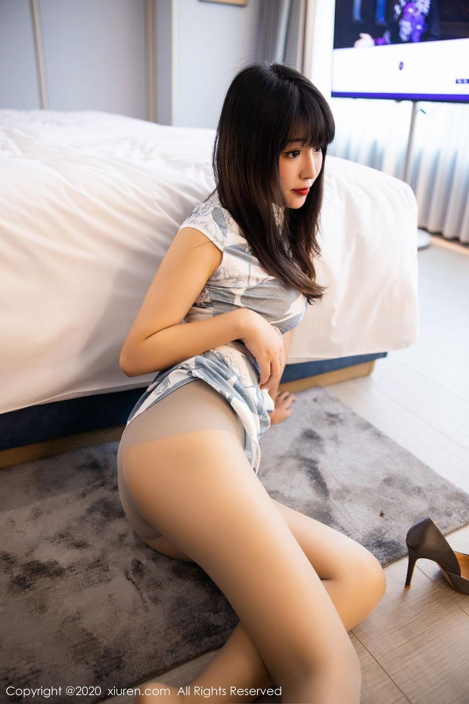 [XiuRen] Vol.2211 Tong Qian Yi 49P, Cheongsam, Underwear, Xiuren