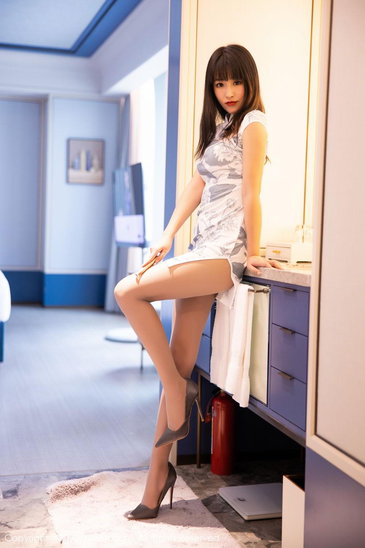 [XiuRen] Vol.2211 Tong Qian Yi 8P, Cheongsam, Underwear, Xiuren