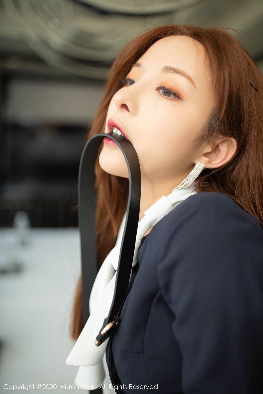 [XiuRen] Vol.2213 Chen Xiao Miao 14P, Black Silk, Chen Xiao Miao, Underwear, Uniform, Xiuren
