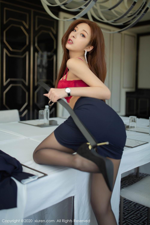 [XiuRen] Vol.2213 Chen Xiao Miao 29P, Black Silk, Chen Xiao Miao, Underwear, Uniform, Xiuren