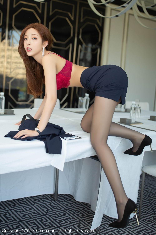 [XiuRen] Vol.2213 Chen Xiao Miao 32P, Black Silk, Chen Xiao Miao, Underwear, Uniform, Xiuren