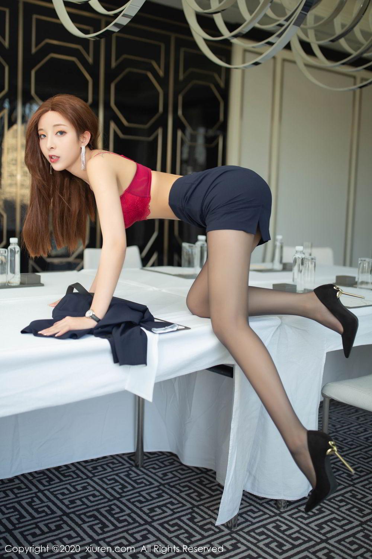[XiuRen] Vol.2213 Chen Xiao Miao 33P, Black Silk, Chen Xiao Miao, Underwear, Uniform, Xiuren
