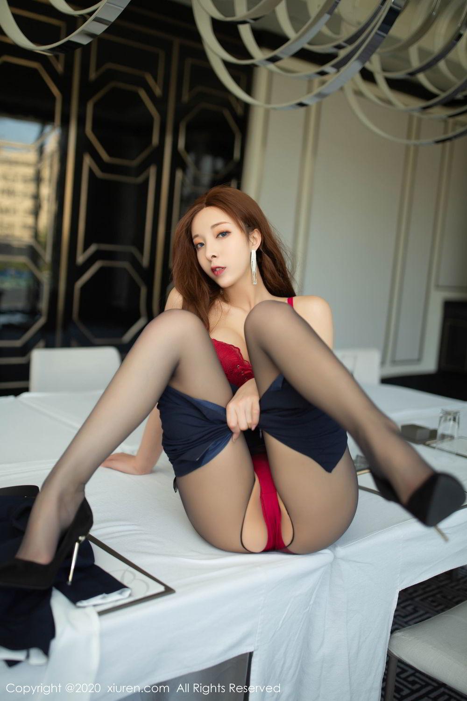 [XiuRen] Vol.2213 Chen Xiao Miao 46P, Black Silk, Chen Xiao Miao, Underwear, Uniform, Xiuren