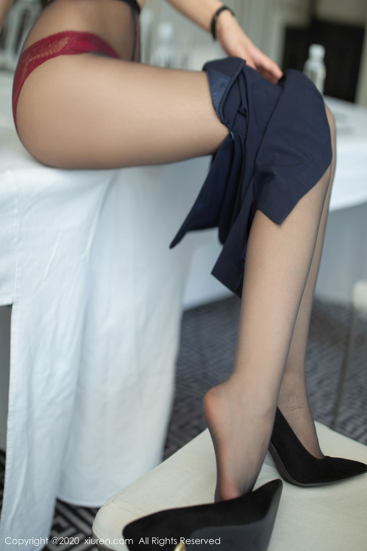 [XiuRen] Vol.2213 Chen Xiao Miao 51P, Black Silk, Chen Xiao Miao, Underwear, Uniform, Xiuren