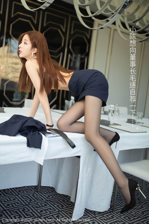 [XiuRen] Vol.2213 Chen Xiao Miao 5P, Black Silk, Chen Xiao Miao, Underwear, Uniform, Xiuren