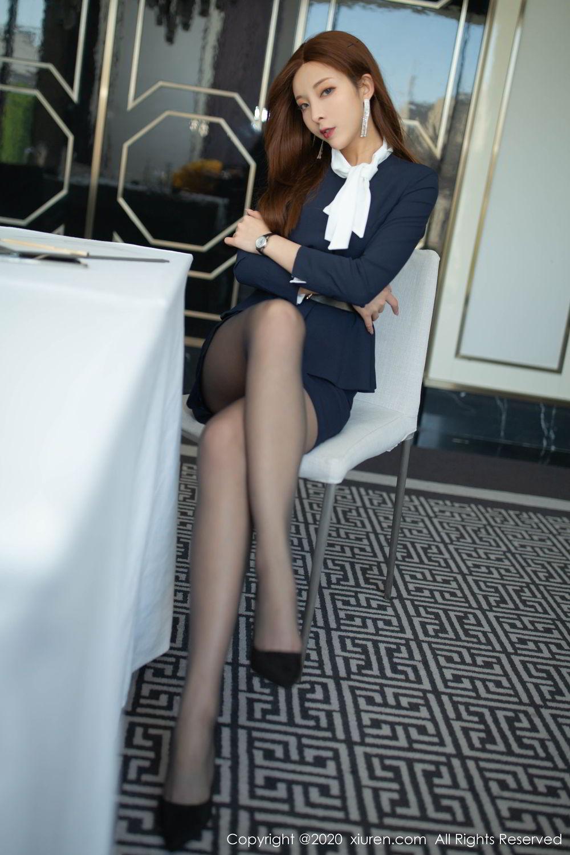 [XiuRen] Vol.2213 Chen Xiao Miao 7P, Black Silk, Chen Xiao Miao, Underwear, Uniform, Xiuren