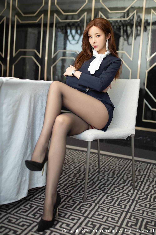 [XiuRen] Vol.2213 Chen Xiao Miao 8P, Black Silk, Chen Xiao Miao, Underwear, Uniform, Xiuren