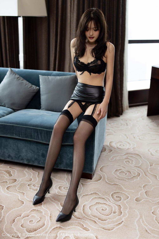 [XiuRen] Vol.2215 Bai Lu Xiao Zhu 10P, Bai Lu Xiao Zhu, Black Silk, Underwear, Xiuren