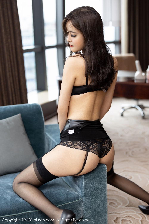 [XiuRen] Vol.2215 Bai Lu Xiao Zhu 14P, Bai Lu Xiao Zhu, Black Silk, Underwear, Xiuren
