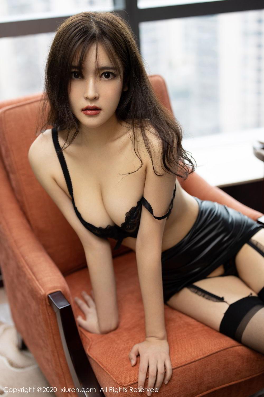 [XiuRen] Vol.2215 Bai Lu Xiao Zhu 20P, Bai Lu Xiao Zhu, Black Silk, Underwear, Xiuren