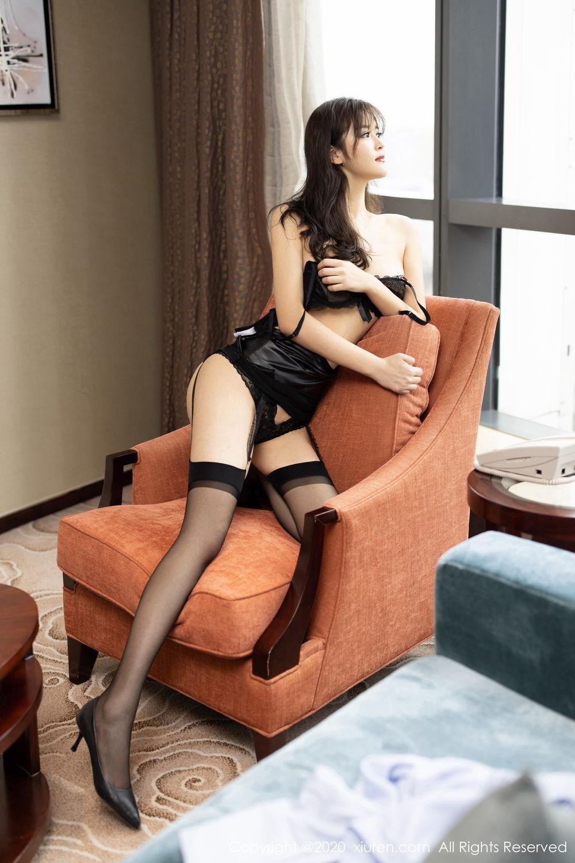 [XiuRen] Vol.2215 Bai Lu Xiao Zhu 27P, Bai Lu Xiao Zhu, Black Silk, Underwear, Xiuren