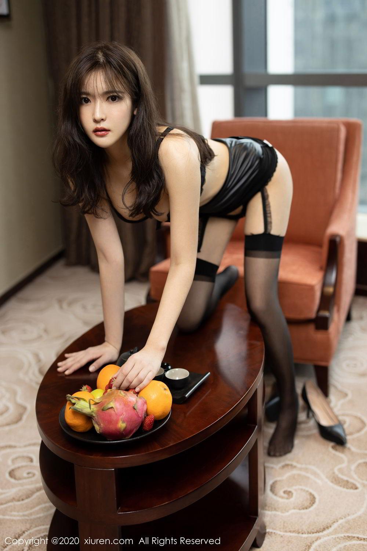 [XiuRen] Vol.2215 Bai Lu Xiao Zhu 39P, Bai Lu Xiao Zhu, Black Silk, Underwear, Xiuren