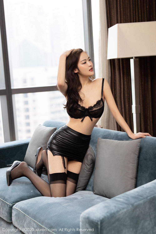 [XiuRen] Vol.2215 Bai Lu Xiao Zhu 3P, Bai Lu Xiao Zhu, Black Silk, Underwear, Xiuren