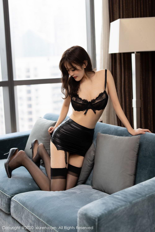 [XiuRen] Vol.2215 Bai Lu Xiao Zhu 8P, Bai Lu Xiao Zhu, Black Silk, Underwear, Xiuren