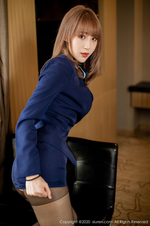 [XiuRen] Vol.2224 Zhou Mu Xi 22P, Black Silk, Underwear, Uniform, Xiuren, Zhou Mu Xi
