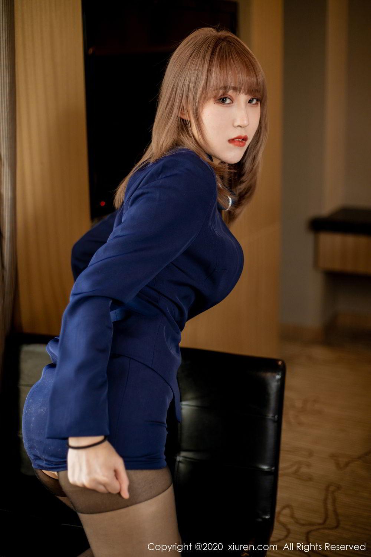 [XiuRen] Vol.2224 Zhou Mu Xi 23P, Black Silk, Underwear, Uniform, Xiuren, Zhou Mu Xi