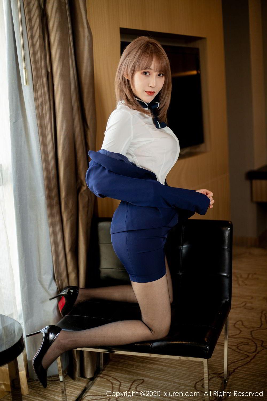 [XiuRen] Vol.2224 Zhou Mu Xi 26P, Black Silk, Underwear, Uniform, Xiuren, Zhou Mu Xi