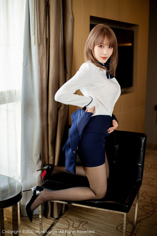 [XiuRen] Vol.2224 Zhou Mu Xi 27P, Black Silk, Underwear, Uniform, Xiuren, Zhou Mu Xi
