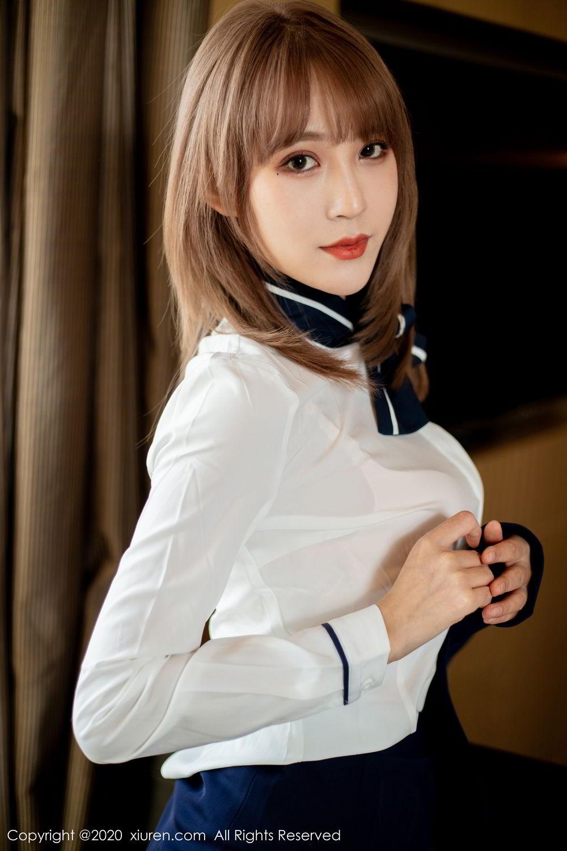 [XiuRen] Vol.2224 Zhou Mu Xi 28P, Black Silk, Underwear, Uniform, Xiuren, Zhou Mu Xi