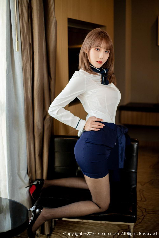 [XiuRen] Vol.2224 Zhou Mu Xi 29P, Black Silk, Underwear, Uniform, Xiuren, Zhou Mu Xi
