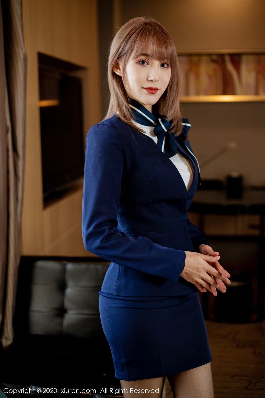 [XiuRen] Vol.2224 Zhou Mu Xi 2P, Black Silk, Underwear, Uniform, Xiuren, Zhou Mu Xi