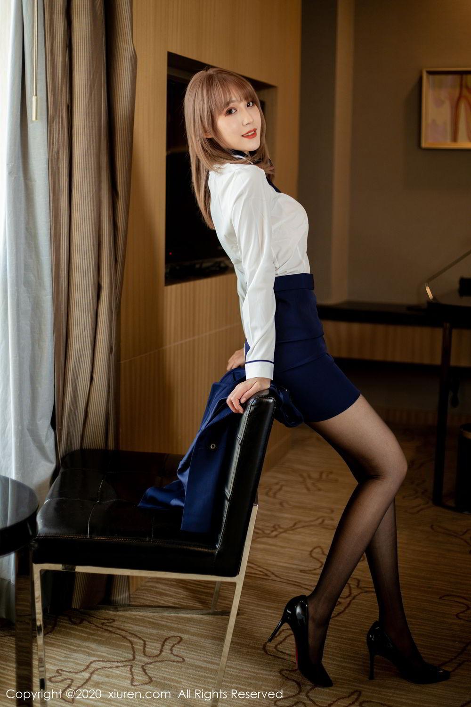 [XiuRen] Vol.2224 Zhou Mu Xi 30P, Black Silk, Underwear, Uniform, Xiuren, Zhou Mu Xi
