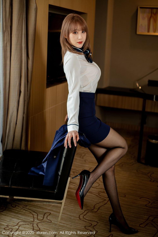 [XiuRen] Vol.2224 Zhou Mu Xi 31P, Black Silk, Underwear, Uniform, Xiuren, Zhou Mu Xi