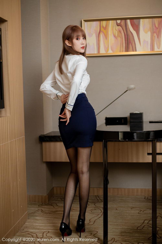 [XiuRen] Vol.2224 Zhou Mu Xi 32P, Black Silk, Underwear, Uniform, Xiuren, Zhou Mu Xi