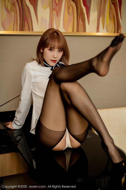 [XiuRen] Vol.2224 Zhou Mu Xi 39P, Black Silk, Underwear, Uniform, Xiuren, Zhou Mu Xi