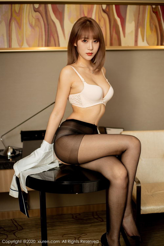 [XiuRen] Vol.2224 Zhou Mu Xi 43P, Black Silk, Underwear, Uniform, Xiuren, Zhou Mu Xi
