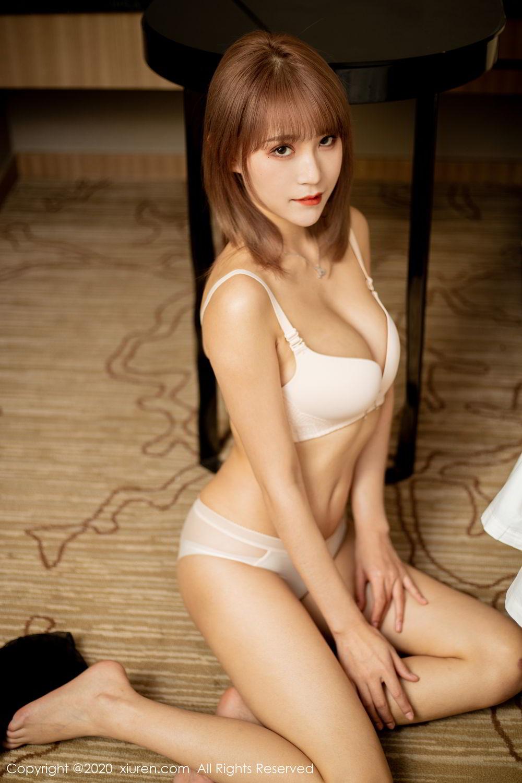 [XiuRen] Vol.2224 Zhou Mu Xi 49P, Black Silk, Underwear, Uniform, Xiuren, Zhou Mu Xi