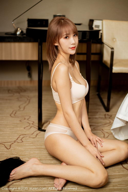 [XiuRen] Vol.2224 Zhou Mu Xi 50P, Black Silk, Underwear, Uniform, Xiuren, Zhou Mu Xi