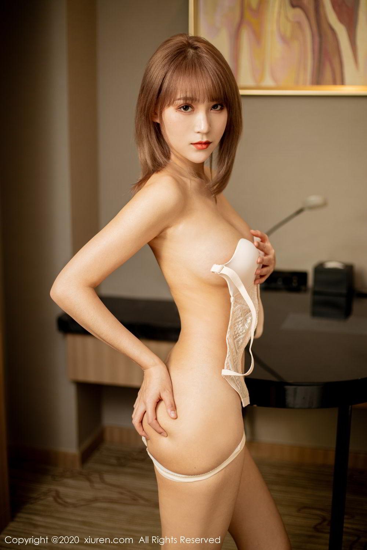 [XiuRen] Vol.2224 Zhou Mu Xi 53P, Black Silk, Underwear, Uniform, Xiuren, Zhou Mu Xi