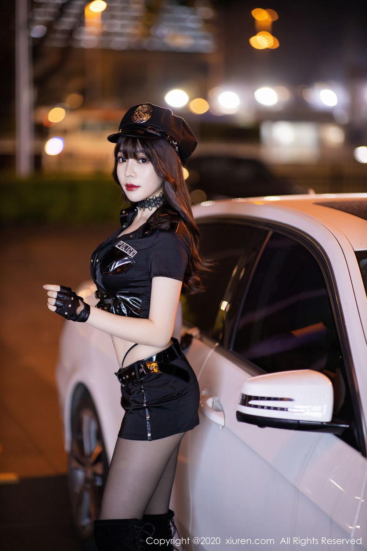[XiuRen] Vol.2226 Chen Zhi 12P, Black Silk, Chen Zhi, Policewoman, Uniform, Xiuren