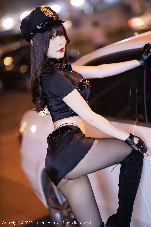 [XiuRen] Vol.2226 Chen Zhi 14P, Black Silk, Chen Zhi, Policewoman, Uniform, Xiuren