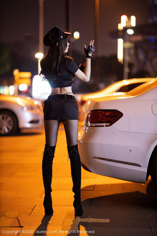 [XiuRen] Vol.2226 Chen Zhi 16P, Black Silk, Chen Zhi, Policewoman, Uniform, Xiuren