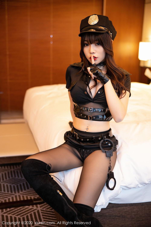 [XiuRen] Vol.2226 Chen Zhi 21P, Black Silk, Chen Zhi, Policewoman, Uniform, Xiuren