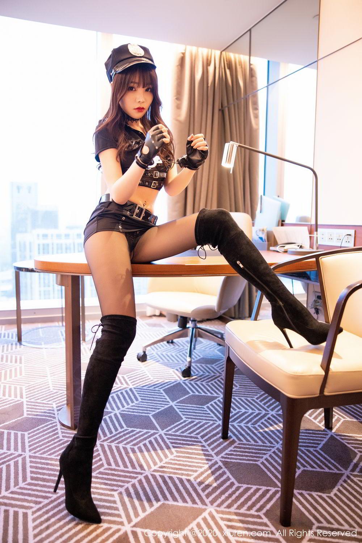 [XiuRen] Vol.2226 Chen Zhi 30P, Black Silk, Chen Zhi, Policewoman, Uniform, Xiuren