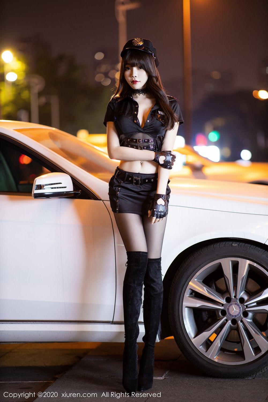 [XiuRen] Vol.2226 Chen Zhi 6P, Black Silk, Chen Zhi, Policewoman, Uniform, Xiuren