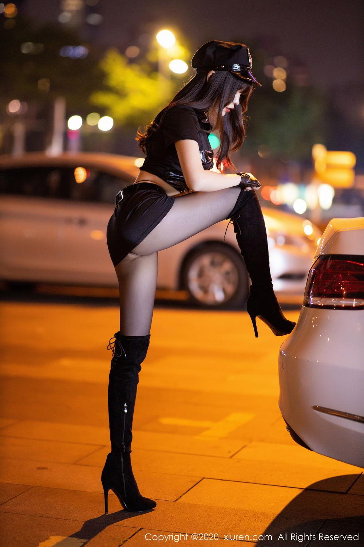 [XiuRen] Vol.2226 Chen Zhi 7P, Black Silk, Chen Zhi, Policewoman, Uniform, Xiuren