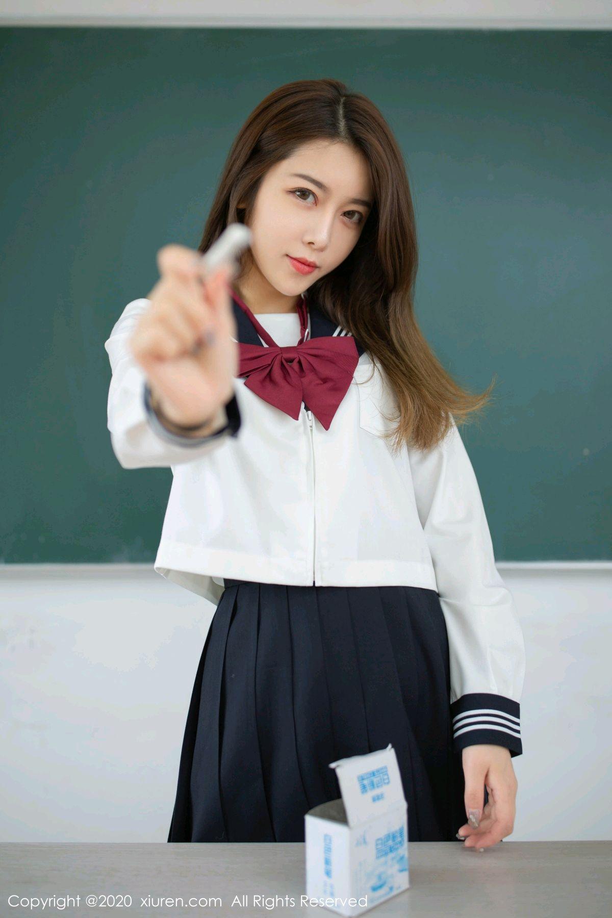 [XiuRen] Vol.2230 Xia Shi Wen 16P, School Uniform, Tall, Underwear, Xia Shi Shi, Xiuren