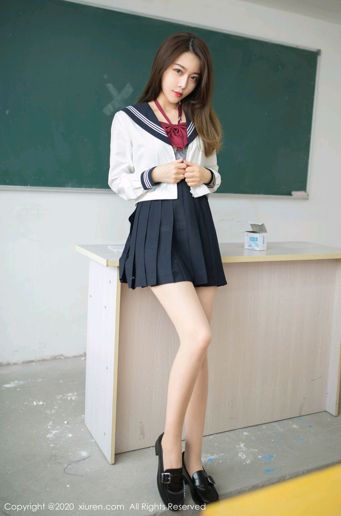 [XiuRen] Vol.2230 Xia Shi Wen 18P, School Uniform, Tall, Underwear, Xia Shi Shi, Xiuren